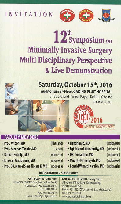 MINIMALLY INVASIVE SURGERY MULTI DISCIPLINARY PERSPECTIVE & LIVE DEMO